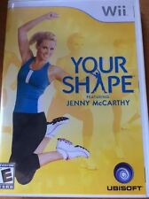 Your Shape Featuring Jenny McCarthy  (Wii, 2009) OPEN BOX (NO CAMERA)
