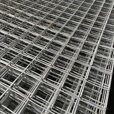 Galvanised Steel Square Mesh Panel Fence Metal Garden Fencing Sheet 1.8m X 0.9m