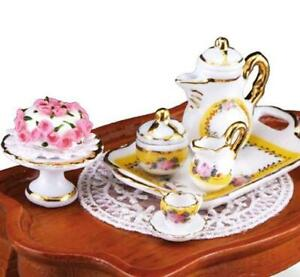 DOLLHOUSE French Rose Coffee Table Set 1.785/2 Reutter Miniature