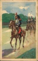 ANTIQUE MILITARY ARMY  POSTCARD CUIRASSIER REGIMENT FRENCH