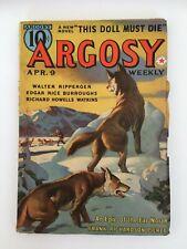 Argosy US pulp Apr.9th 1938 - Edgar Rice Burroughs - The Red Star of Tarzan 4/6
