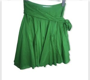 AllSaints Short Parachute Balloon Full Skater Skirt Size S 8 GREEN Layers