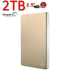 "New 2TB 2.5"" SEAGATE Backup Plus SLIM USB3.0 External Portable Hard Drive Gold"