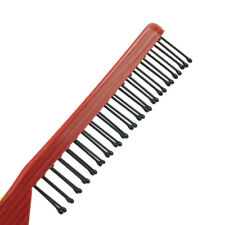 2pcs Fold Pocket Travel Salon Anti-Static Hair Brush Comb Hairdressing Brown Red