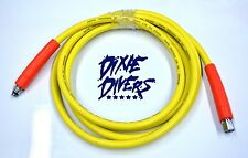 Hookah Pressure Hose 10 Ft 1ST  2ND STAGE FITTING Scuba Diving Boat Pool Cleaner