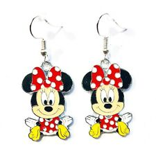 Disney's Minnie Mouse Charm Character Dangle Hook Earrings - Ships Fast - GIFT