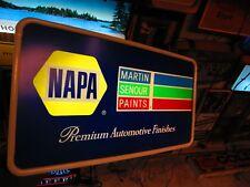 LIGHTED WORKING NAPA-MARTIN SENOUR PAINTS PREMIUM AUTOMOTIVE FINISHES SHOP SIGN
