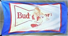 "Vintage 1987 Budweiser King of Beers ""Surf's Up"" Breweriana Graphic Beach Towel"