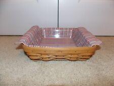 """* Longaberger * 2004 Brownie Combo (Basket, Liner, & Protector) 8"""" x 8"""" Serving"""