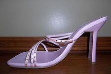 """WILD DIVA Light Pink Strappy Slides Sandals Rhinestone NEW 4"""" Heel Size 7.5 M"""