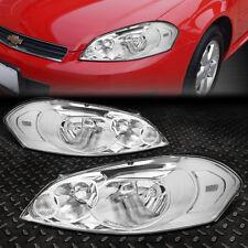 For 2006 2016 Chevy Impala Chrome Housing Clear Corner Per Headlight Lamp Set