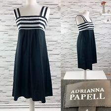 ADRIANNA PAPELL Black & White Shift Dress Size 8 Summer Holiday