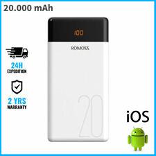 Romoss LT20 20.000mAh External Power Bank Chargeur Battery USB Charger Portable