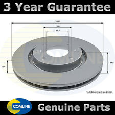 FRONT COMLINE COATED BRAKE DISC FOR PEUGEOT 206 CC 2.0 S16 1.6 16V HDI 110 2000-