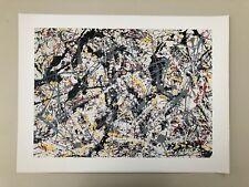 JACKSON POLLOCK,'SILVER OVER BLACK WHITE,1948' RARE AUTHENTIC 2000 ART PRINT