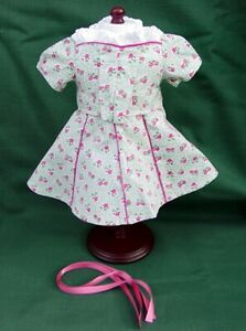 American Girl MOLLY MINT Retired FLORAL PRINT VICTORY GARDEN DRESS OUTFIT REPRO