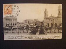 CPA  - ( Amérique Sud )  - URUGUAY  -  Montevideo  -  Plaza Constitucion  - 1903