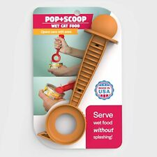 Pop+Scoop Cat Food Can Opener and Server Spoon As Seen On Tv Item made in Usa