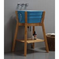 Mobile da Bagno Struttura portalavabo alta in legno ideale per lavabi Tinozza