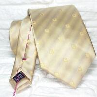 Krawatte seide beige & gold Made in Italy TRE marke hochzeit / business UVP € 40