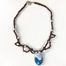 V Oceania Moana Collier Halskette Necklace Pua Stone Collar Blau Cosplay #2