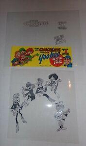 RARE Yoo Hoo Band Commercial animated Ray Favata Cel Store Ad Yogi Berra Yankees