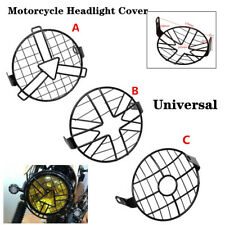 5.75''/16.3cm Headlight Mesh Grill Guard Motorcycle Bike Headlamp Cover Mask Kit