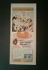 1943 Aunt Jemima Pancakes Black Americana Buckwheats Just Before Christmas Ad