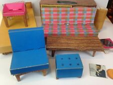 Vintage Barbie Dream House Cardboard Doll Furniture 1962 Replacement Lot gb21