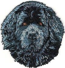 "2"" x 2 1/4"" Newfoundland Head Portrait Dog Breed Embroidery Patch"