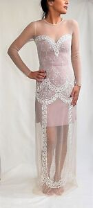 Alice by Temperley Long Luisa Dress in Oyster Mix Colour Size 8,  ......#2