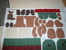Sewing Panel For Christmas Merry Moose With Clothes,Approx 20In.
