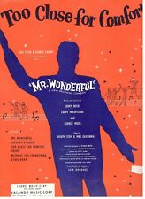 TOO CLOSE FOR COMFORT-MR. WONDERFUL-PIANO/VOCAL/CHORDS SHEET MUSIC-1956-RARE-NEW