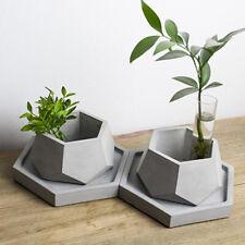 Concrete Flower Pot Silicone Mould Polygonal Planter Cement Mold