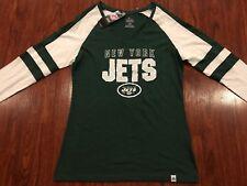 a4861b4b62c Majestic New York Jets Women s Long Sleeve V Neck Jersey Shirt Large L NFL
