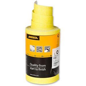 Mirka Hiomant Yellow Abrasive Sand Paper Roll - 115mm x 10m - Please select grit