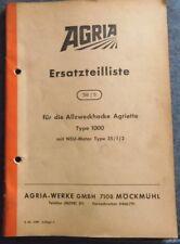 Agria Allzweckhacke Agriette Typ 1000 Ersatzteilliste