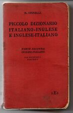 PICCOLO DIZIONARIO ITALIANO-INGLESE INGLESE-ITALIANO - N. SPINELLI -  SEI 1940