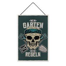 Garten Regeln 20 x 30 cm Holz-Schild 8 mm Spruch Motiv Geschenk Männer Gärtner