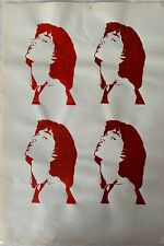 ANDY WARHOL - etching signed on original paper of 70's - multi Mick Jagger
