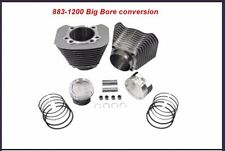 883-1200 CYLINDER & PISTON BIG BORE silver/milled KIT 10:1 HARLEY SPORTSTER 04 +