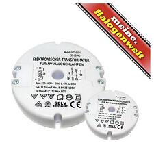 Elektronischer Halogen-Trafo 35-105W 230V/12V 105VA Transformator flach & rund