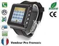 Montre Téléphone Ecran Tactile Tout Opérateur Débloqué Bluetooth AK812 Noir