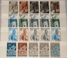 DAHOMEY 1966 270-73 215-18 PROOFS Handicrafts Negro Arts Festival Art Kunst MNH
