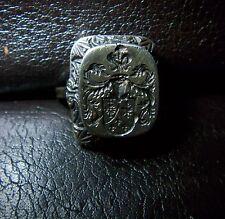 Wappen- Feld- Ring / Adelswappen / Familienwappen Silber 830er
