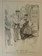 "7x10"" punch cartoon 1931 THE WRONG BUS sir john simon / socialist party"