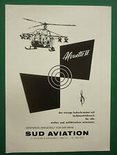 5/61 PUB SUD AVIATION MILITARY HELICOPTER ALOUETTE II HUBSCHRAUBER GERMAN AD