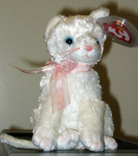 Ty Beanie Baby ~ FANCY the White Cat ~ MINT with MINT TAGS ~ RETIRED