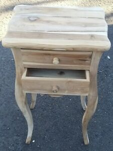 Bedside Cabinet Chest Country Style Unfinished 2 drawer Ready to Paint