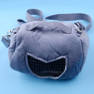 Portable Small Animal Carrier Travel Warm Bag Pet Hamster Guinea Pig Pouch Bed